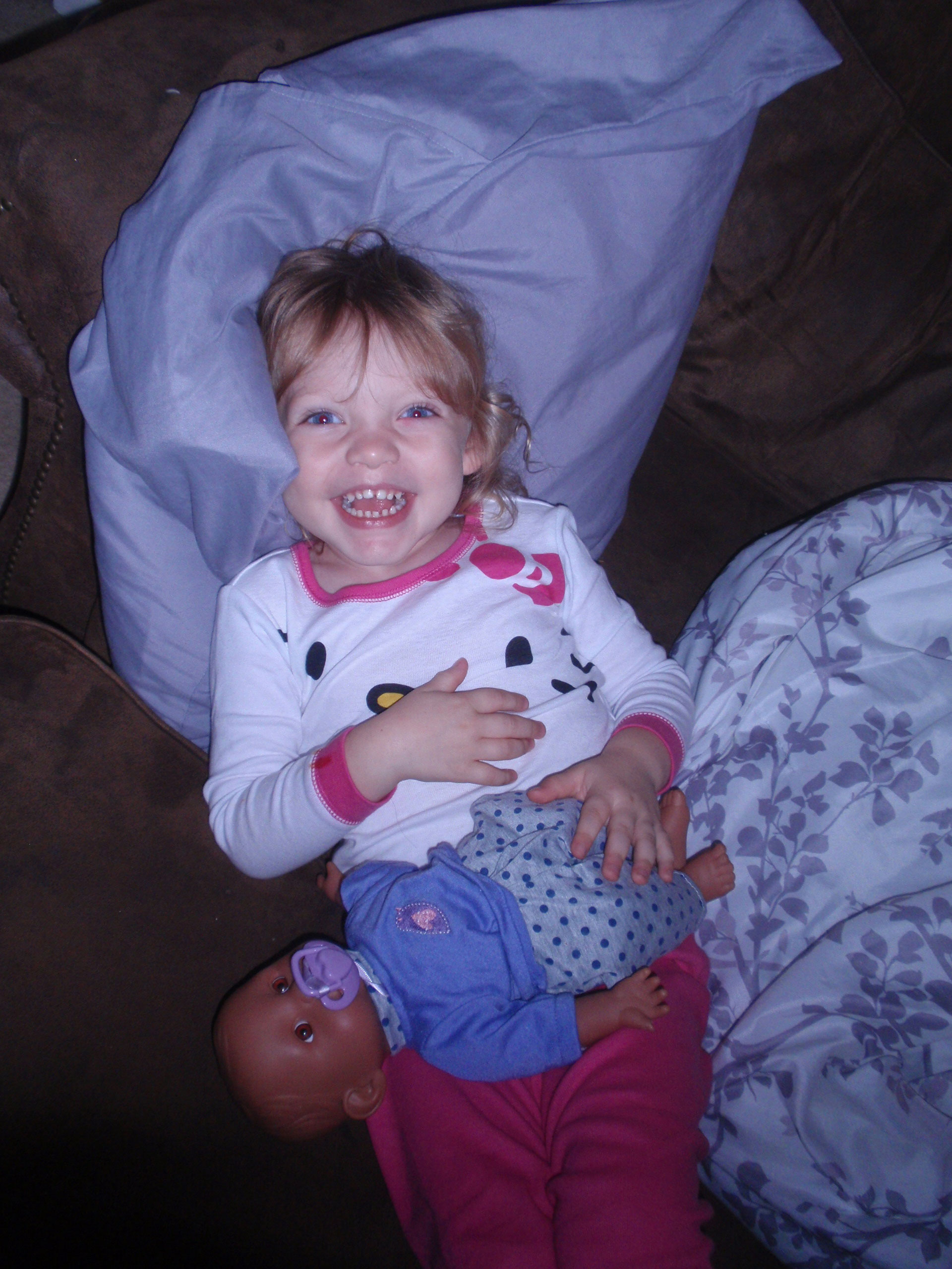 Addison and her Purple Baby 1
